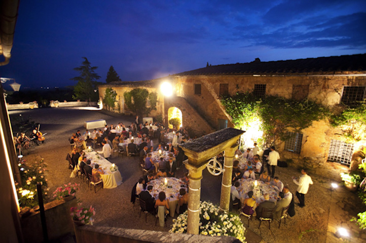 Wedding at Villa 1 in Tuscany  (sample of 100 guests)