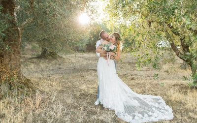 Lake View Olive Grove Wedding for 40 guests