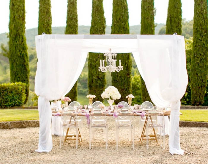 Sample wedding plan for 100 guests at Vineyard in Tuscany