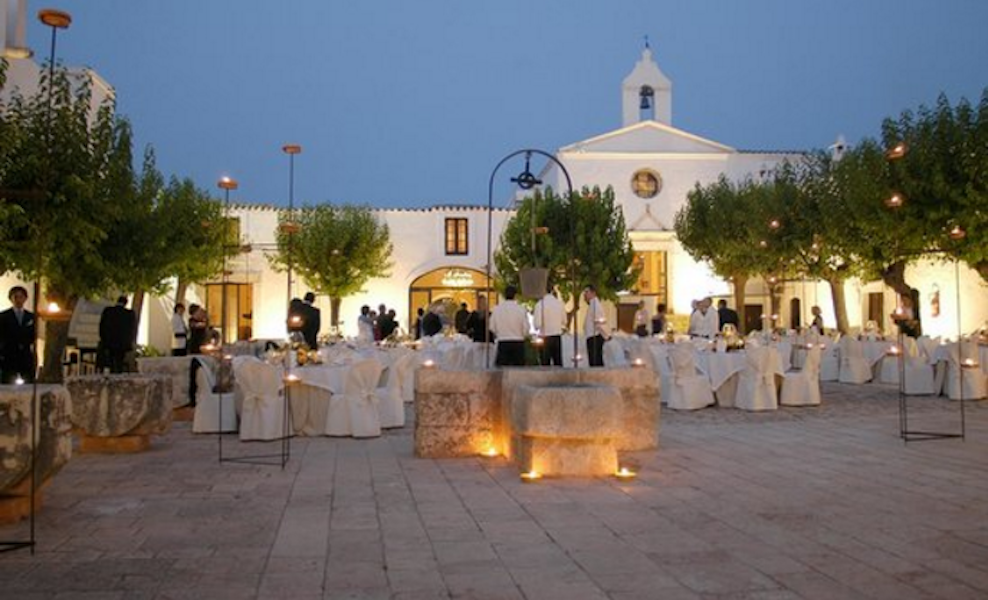 Wedding for 140 in Masseria in Puglia