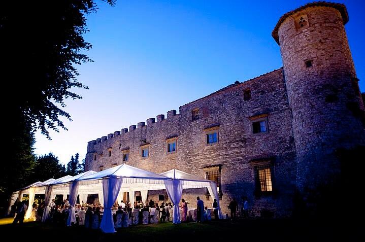 Symbolic wedding at Castello di Meleto