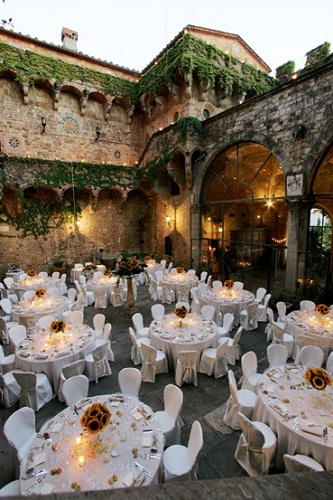 Wedding Castle overlooking Florence, Italy