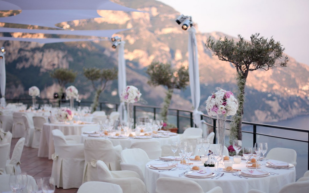 Church wedding in Positano, Italy with hotel reception (sample 50 guests)