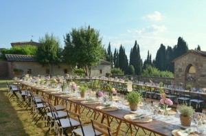 Church wedding at Villa near Siena Tuscany