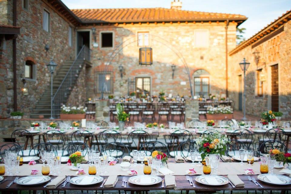 Church wedding at Elenora's Villa in Tuscany