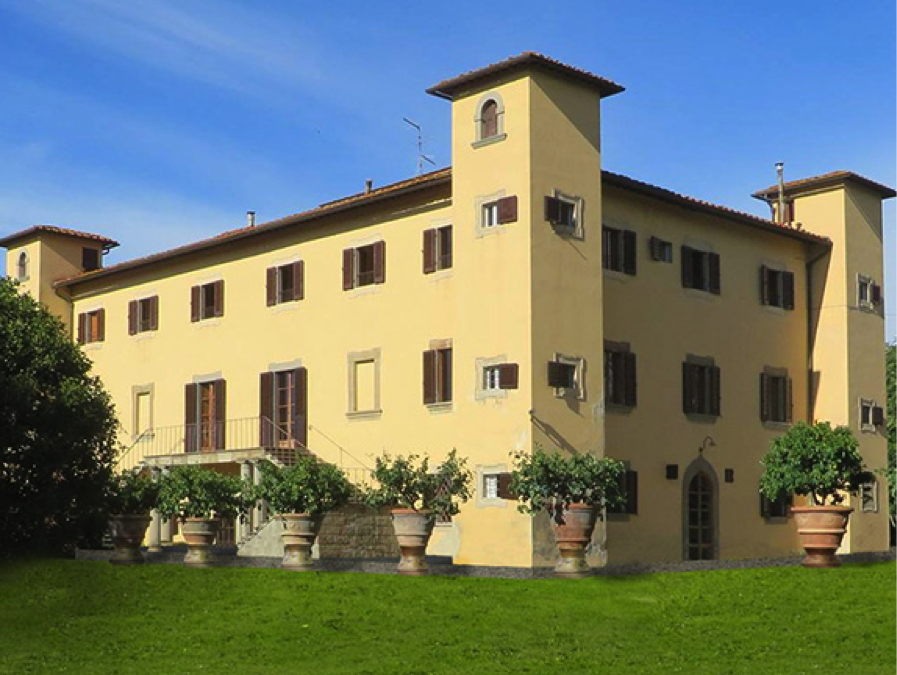 Wedding villa near Florence overlooking  Countryside