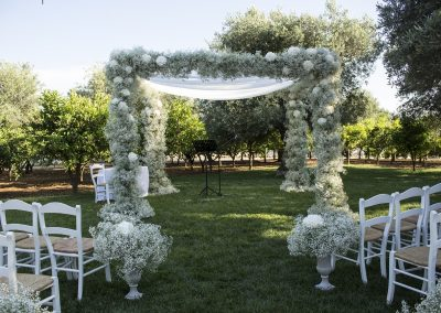 outdoor wedding in puglia italy