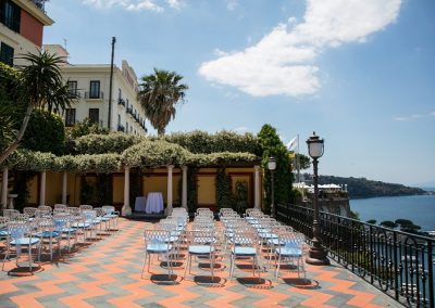 Outdoor wedding ceremony by sea italy Amalfi Coast AC9